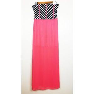 Dresses & Skirts - Strapless Striped Top Long Dress